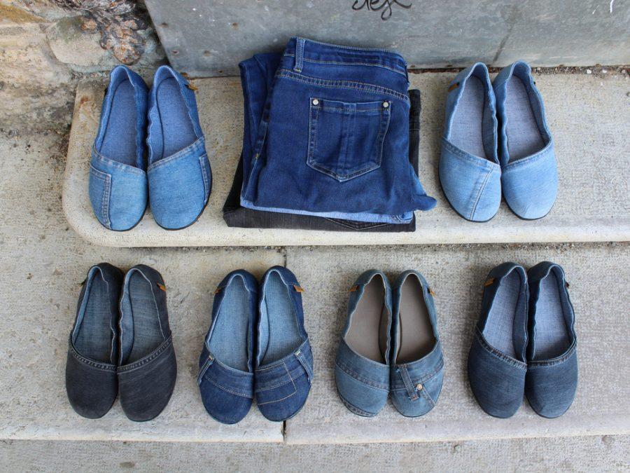 reciklirani čevlji iz rabljenih kavbojk